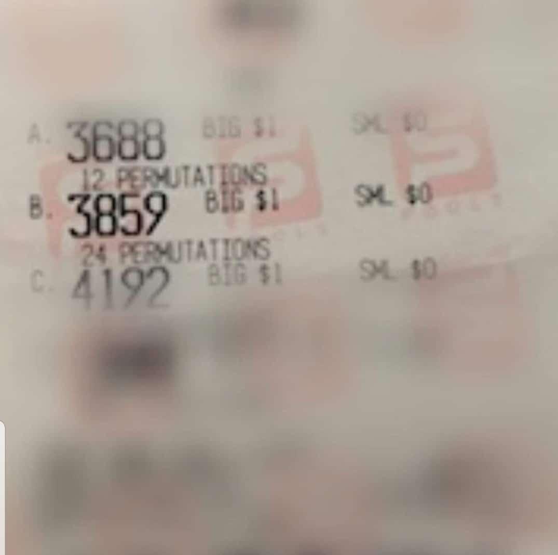 4D Winning Tickets Proof   4D SINGAPORE